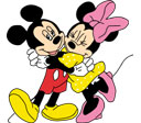 Mickey en minnie mouse plaatje